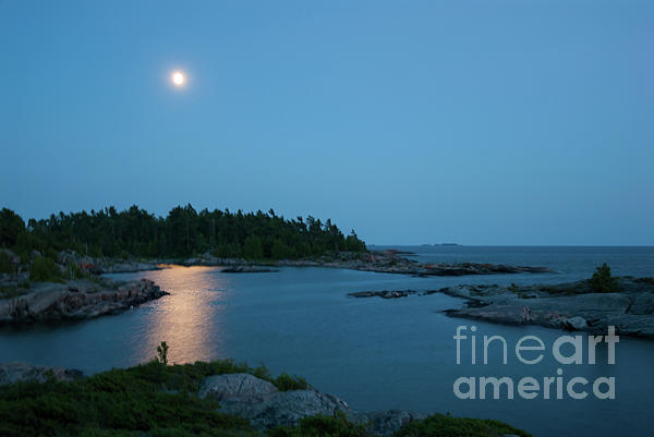 Robert McAlpine - Full moon over Georgian Bay