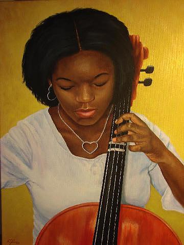 Rebecca Steelman - Gabi playing her cello