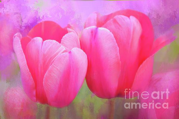 Regina Geoghan - Garden Tulips Painted