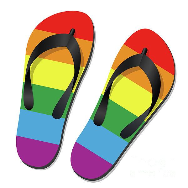 43f2a1cd3 Gay Pride Flip Flops Greeting Card for Sale by Peter Hermes Furian