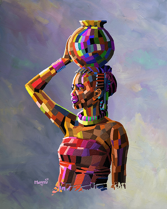 Anthony Mwangi - Girl Carrying Water