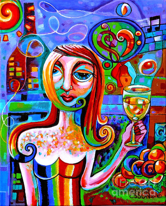 Genevieve Esson - Girl With Glass Of Chardonnay