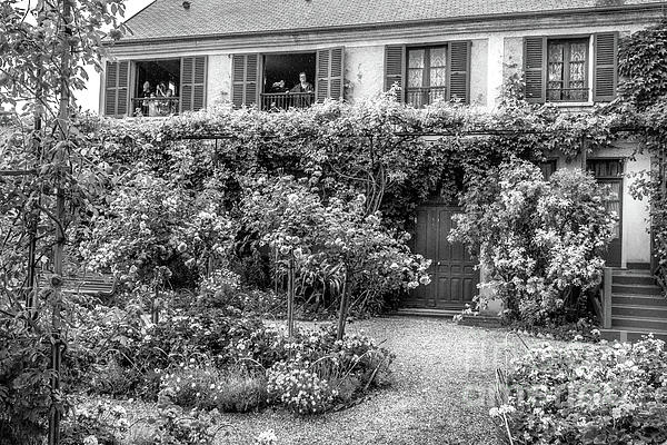 Liesl Walsh - Giverny on a Rainy Day, France, Black and White