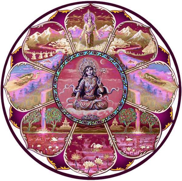 Painting Goddess Tara Mandala By Svahha Devi Boundary Bleed Area May Not Be Visible