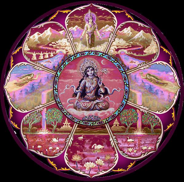 Painting Goddess Tara Mandala By Svahha Devi Boundary Bleed Area May Not Be Visible