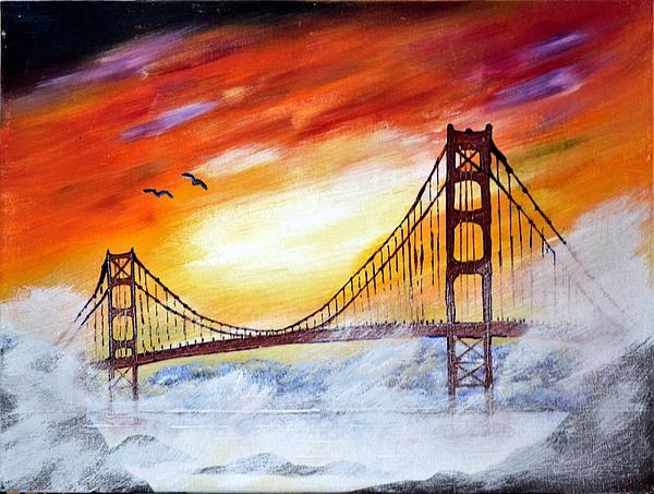 Deepa Sahoo - Golden Bridge In Mist