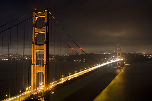 Mike Irwin - Golden Gate at night