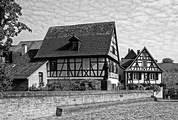 Sally Weigand - Half Timbered Houses Black and White