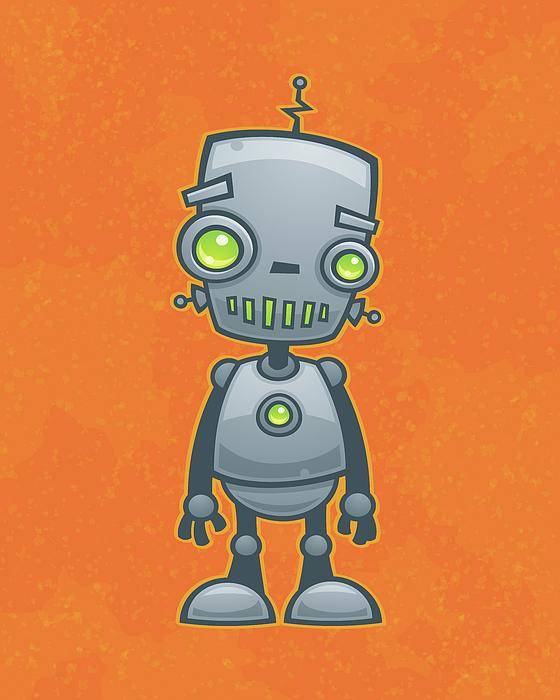 Happy Robot Digital Art