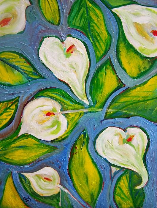Patricia Taylor - Hawaiian Print with Calla Lilies