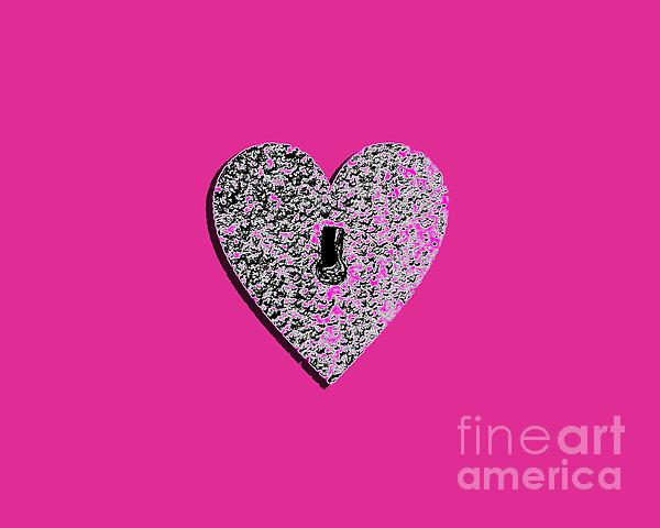 Heart Shaped Lock Pink .png Photograph