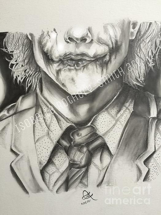 Heath Ledger Joker Pencil Sketch Greeting Card