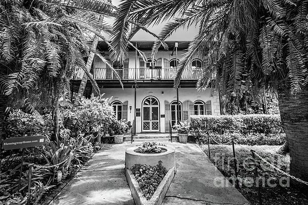 Liesl Walsh - Hemingway House Entrance, Key West, Blk Wht