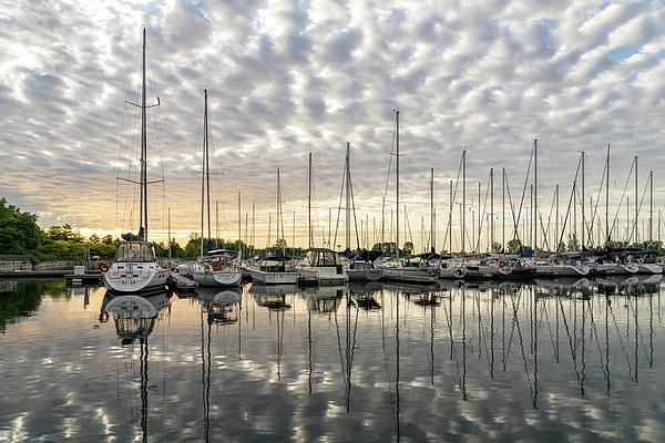 Georgia Mizuleva - Herringbone Sky Patterns with Yachts and Boats