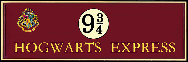 Harry Potter Hogwarts Express Train Platform 9 3 4 Sign