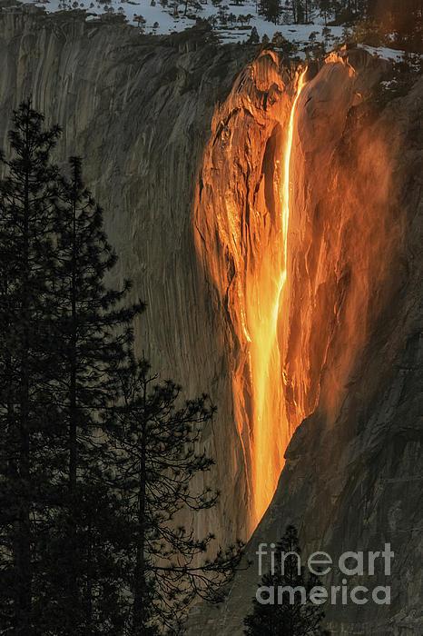 Tibor Vari - Horsetail Falls in Yosemite National Park