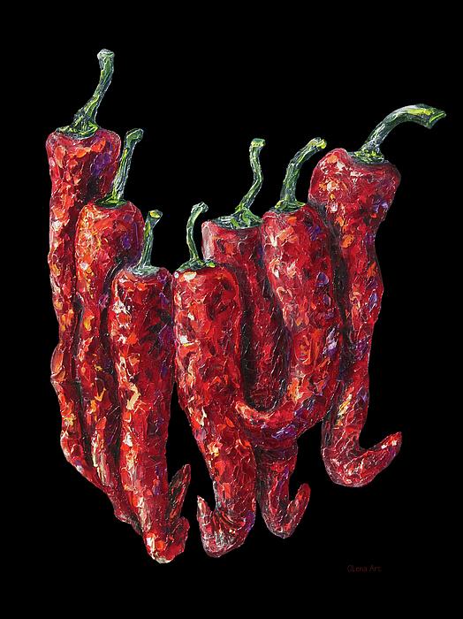 Lena  Owens OLena Art - Hot Peppers