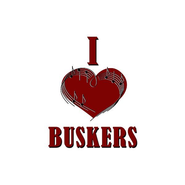 I Heart Buskers Digital Art