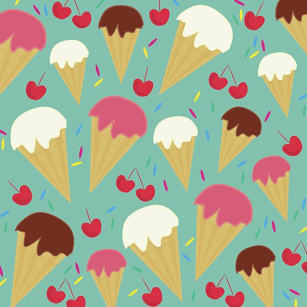 Ice Cream Cones Photograph