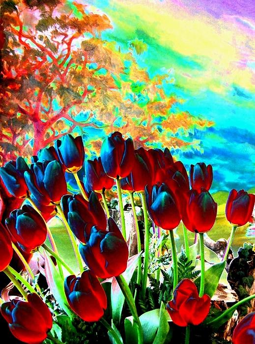 Will Borden - Iridescent Red Tulips