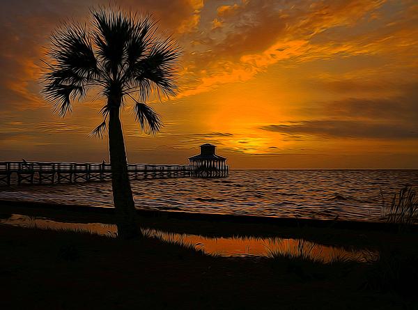 Judy Vincent - Island Sunrise Painted
