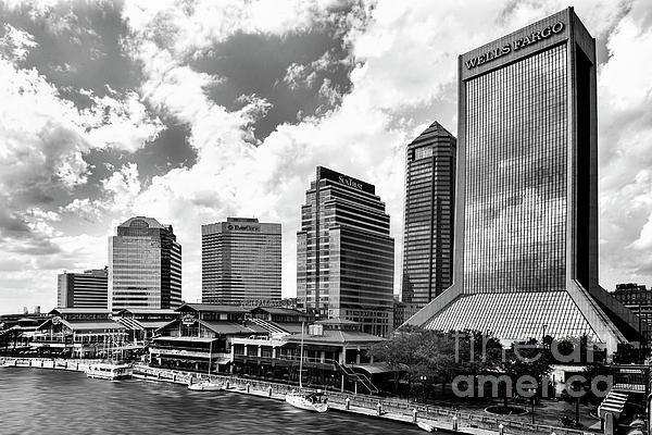 Kay Brewer - Jacksonville, Florida, Skyline In Black and White