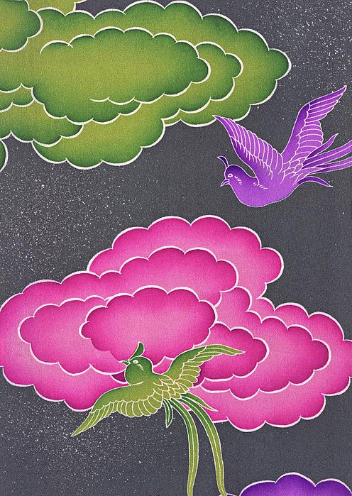 ArtMarketJapan - Japanese style phoenix and cloud Modern Interior Art Painting.
