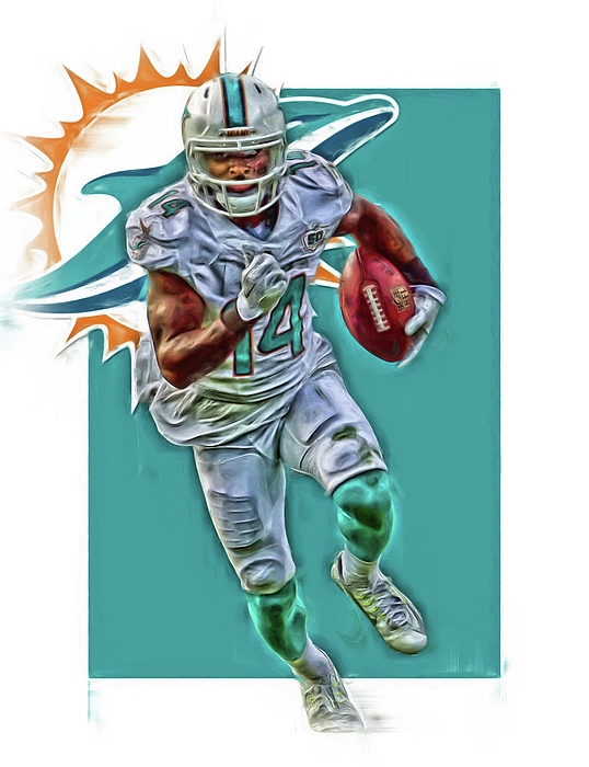 newest 5ebd2 9780f Jarvis Landry Miami Dolphins Oil Art Carry-all Pouch