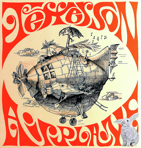 Thomas Pollart - Jefferson Airplane Concert Poster Print, White Rabbit