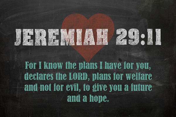 Jeremiah 29 11 Inspirational Quote Bible Verses On Chalkboard Art Carry All Pouch For Sale By Design Turnpike