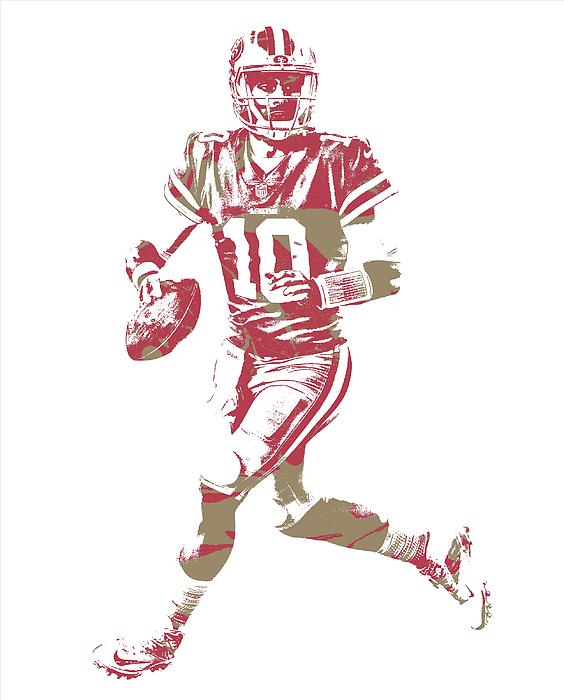 Jimmy Garoppolo San Francisco 49ers Pixel Art 6 Iphone X Case