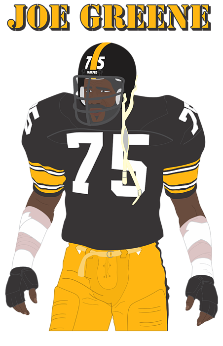 f3313f142 American Football Men s T-Shirt (Athletic Fit) featuring the digital art  Joe Greene. Click and drag to re-position the image