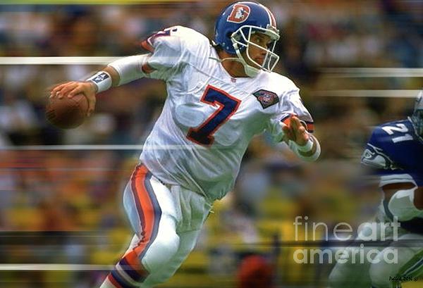 fa912786 John Elway, Number 7, Quarterback, Denver Broncos Spiral Notebook