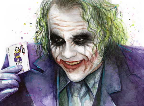 Joker Watercolor Portrait Onesie For Sale By Olga Shvartsur