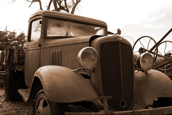 Mark A Brown - Junk Yard Chevy Truck