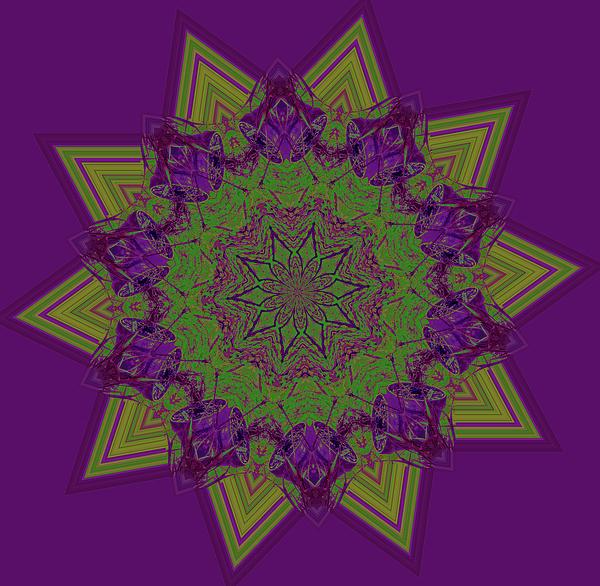 Marian Bell - Kaleidoscopic Art Star in Deep Purple