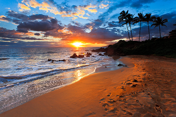 Nature  Photographer - Kealani sunset - A colorful sunset in Wailea - Maui - Hawaii