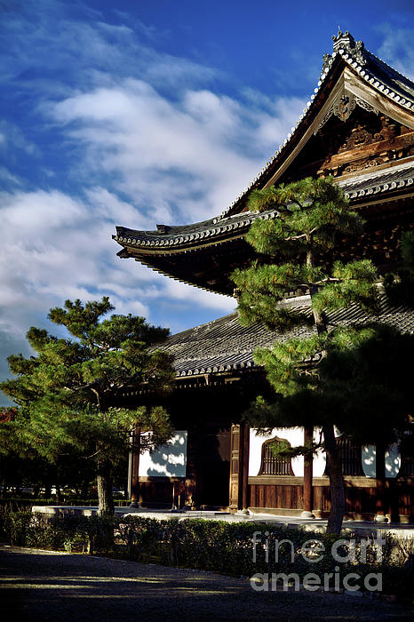 Kenninji Japanese Zen Buddhist Temple In Kyoto Japan Greeting Card