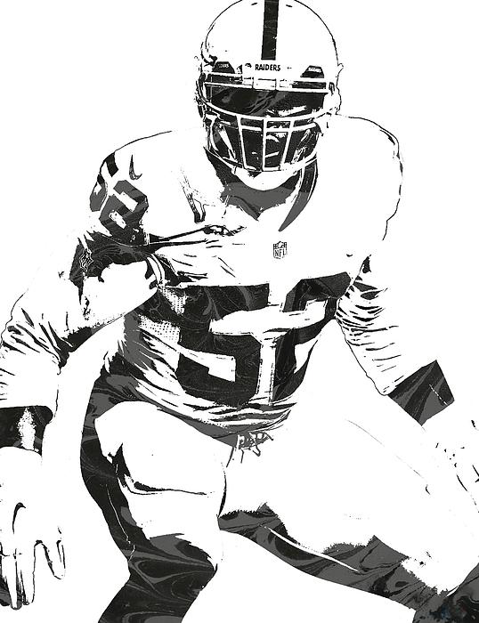 new concept ee436 d29ae Khalil Mack Oakland Raiders Pixel Art 1 Greeting Card