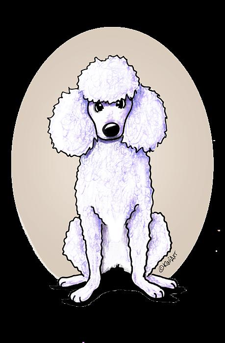 Kiniart White Poodle Round Beach Towel For Sale By Kim Niles