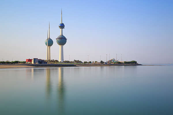 Kuwait Towers Sunset Greeting Card