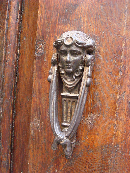 YT Photo - Lady with a Scarf  Door Knocker