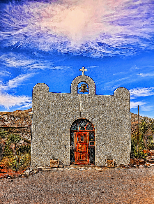 Judy Vincent - Lajitas Chapel Painted