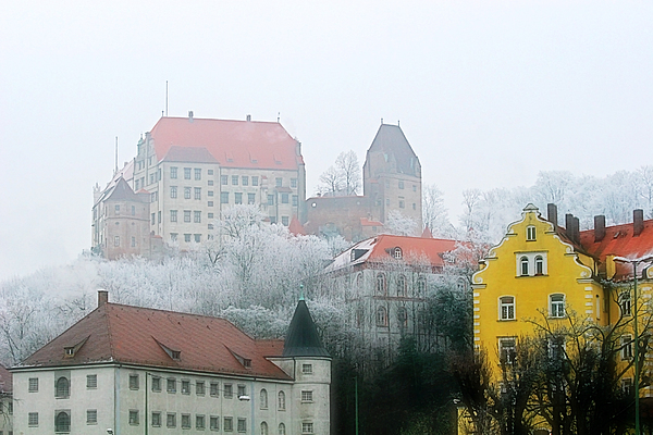 Landshut Bavaria On A Foggy Day Photograph
