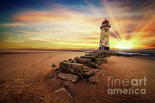 Adrian Evans - Lighthouse Sunset Wales