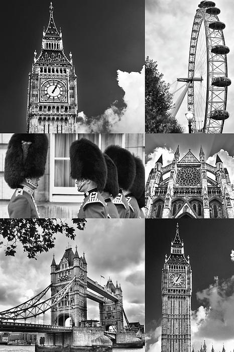 Mihaela Pater - London Collage bw