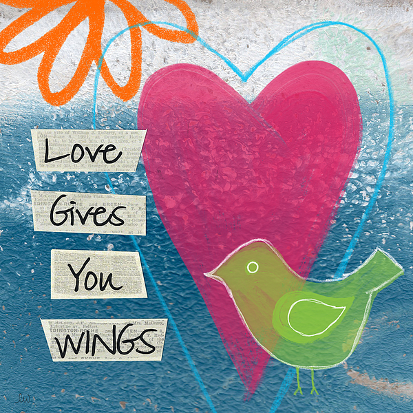 Love Gives You Wings Mixed Media