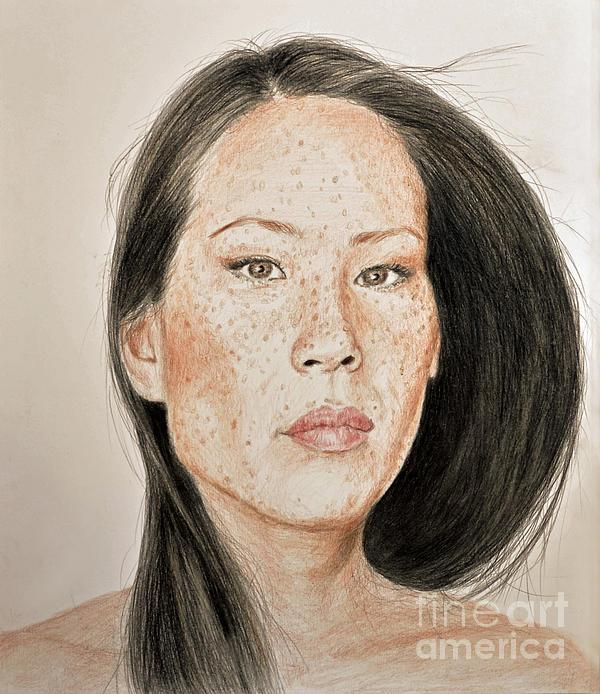 Jim Fitzpatrick - Lucy Liu Freckled Beauty II
