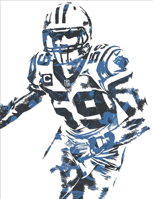 the latest ccf3c 65a92 Luke Kuechly Carolina Panthers Pixel Art 6 Fleece Blanket