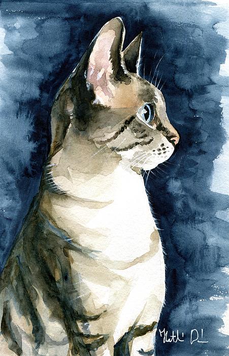 Dora Hathazi Mendes - Lynx Point Cat Portrait